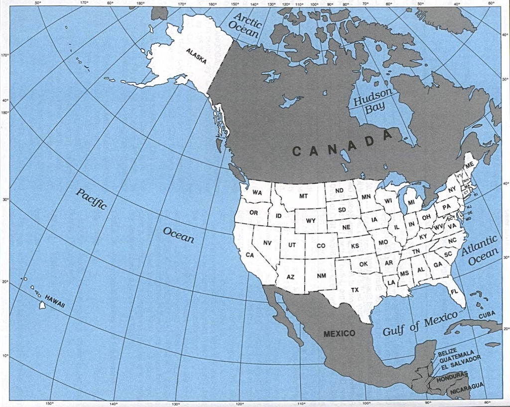 U.S. Map with Alaska